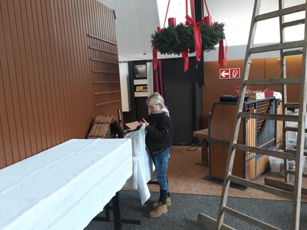 Weihnachtsbaumaufbau 2017